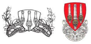 Il primo stemma dell'Arsenal e quello del quartiere di Woolwich