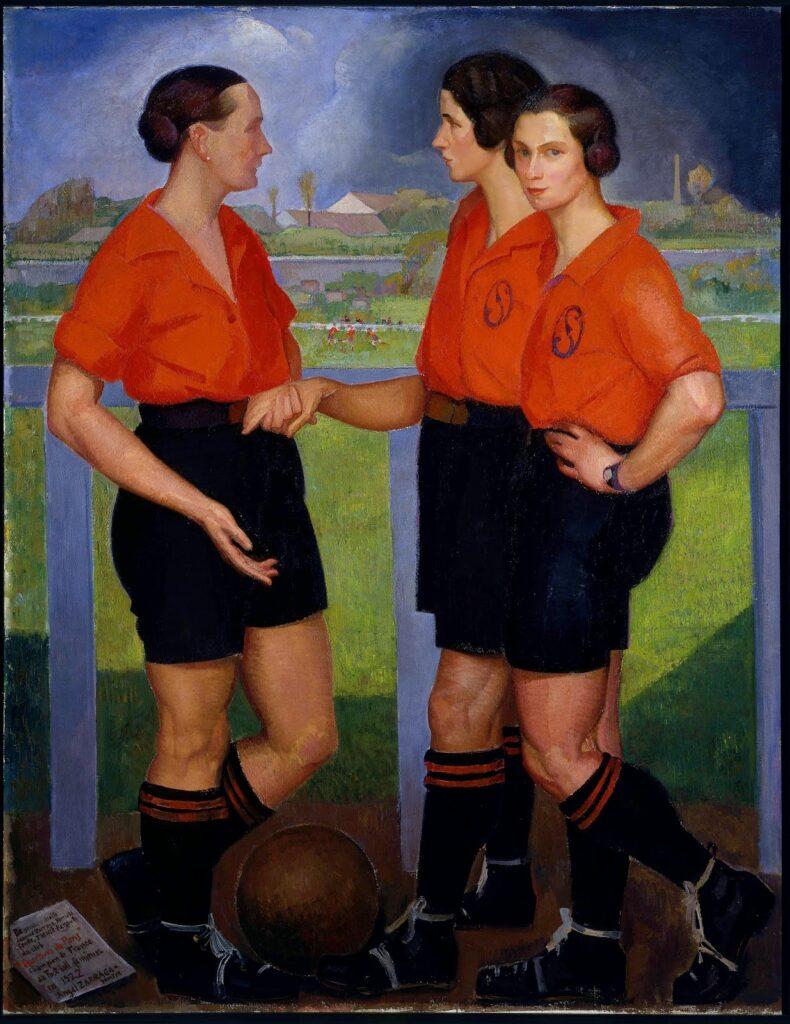 Ángel Zárraga, Las futbolistas, 1922. Città del Messico, Museo del Arte Moderno