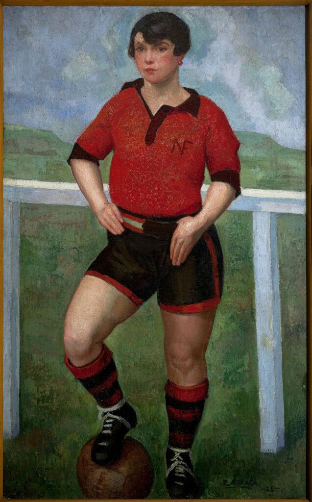 Flor Garduño Ángel Zárraga, La futbolista morena, 1926. Collezione privata