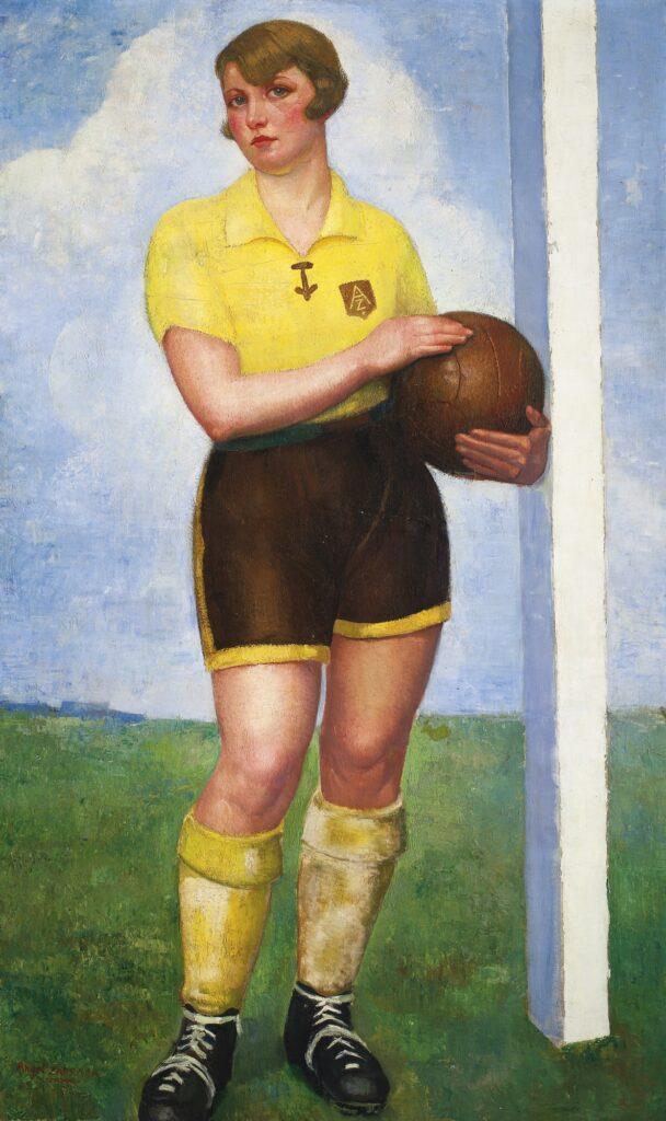Ángel Zárraga, La futbolista rubia, 1926-27 circa. Collezione privata