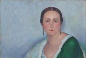 Ángel Zárraga, Portrait de Madame Zárraga, 1920. Parigi, Centre Pompidou