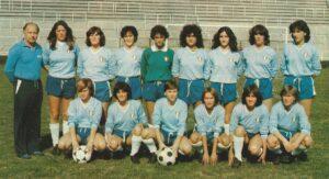 Con la Lubiam Lazio nel 1980